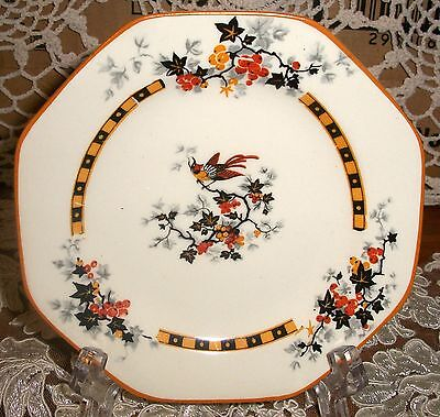 Vintage England Crown Ducal Ware  Side Plate Bird in the Centre