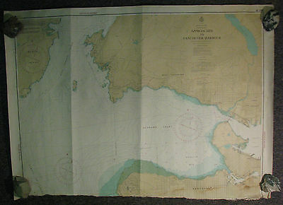 Nautical Chart Canada BC Approaches to Vancouver Harbor 1980 #3481
