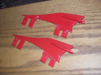 1984 Ghostbusters ECTO-1 Car Part  RED FIN Replacement, Set of Two