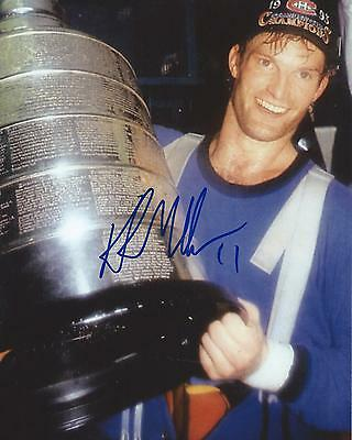 Kirk Muller Signed 8x10 Photo Stanley Cup Montreal Canadiens Autographed COA
