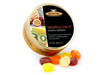NEW Simpkins Tropical Fruit Travel Sweets 200g