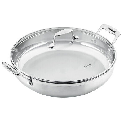 NEW Scanpan Impact Chef's Pan with Lid 32cm