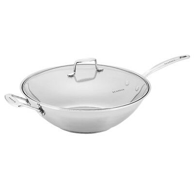 NEW Scanpan Impact Wok with Lid 32cm