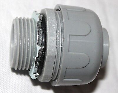 "1"" Non-Metallic Liquid Tight Straight Fitting Connector (UL Listed) Brand NEW"