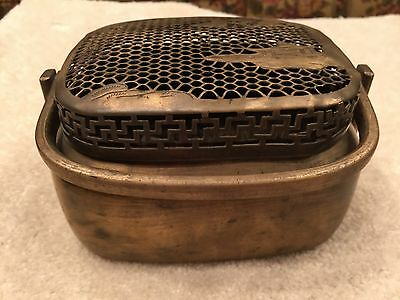 Antique Chinese 19th Century Solid Brass Peking Hand Warmer