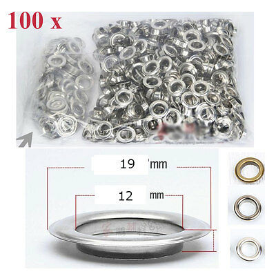 100 x Eyelets Buckle Apparel Scrapbook Stamping Metallic Material Leather Craft