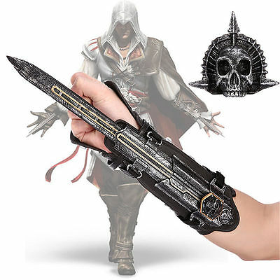 Assassins Creed 4 Four Cosplay Black Flag Pirate Hidden Blade Gauntlet Weapon
