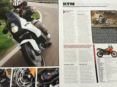 Ktm 990 Adventure # First Ride # 2 Page Original Motorcycle Article