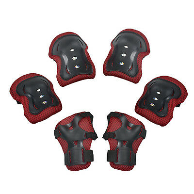 6pcs Set Skating Scooter Safety Elbow Knee Wrist Pads Gear Protector Kids Child