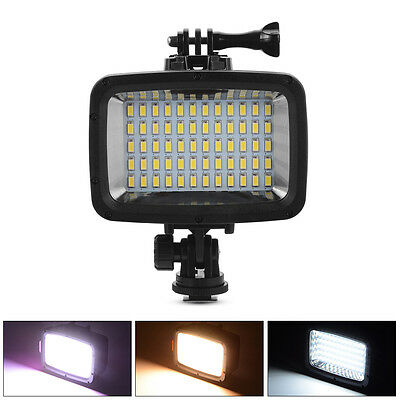 Waterproof LED Diving Video Light 60 LEDs 1800LM for GoPro Hero 3/4 Camera LD846