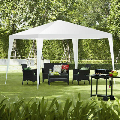 3X3M Waterfroof Outdoor Garden Gazebo Canopy Party Wedding Tent Marquee White