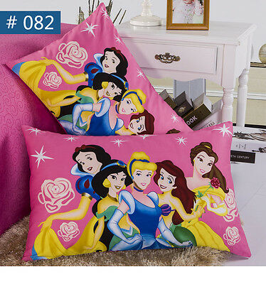 Disney Princess Pillow Case Girls Pillowcases Cartoon Pattern Cotton Kids Favor