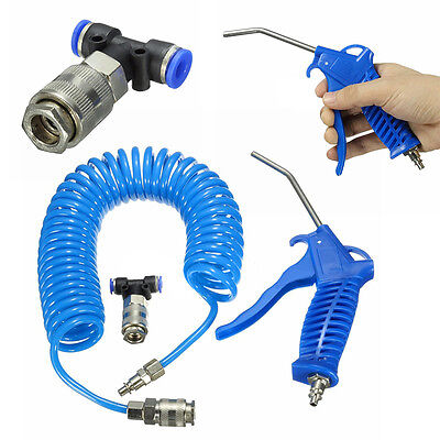Air Duster +5m Recoil Hose Truck Dust Blower Clean Nozzle Blow Spray Tool Kit