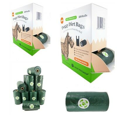 Scot Petshop Biodegradable Dog Waste Bags With Easy Tie Handles - 600 Poo Bags