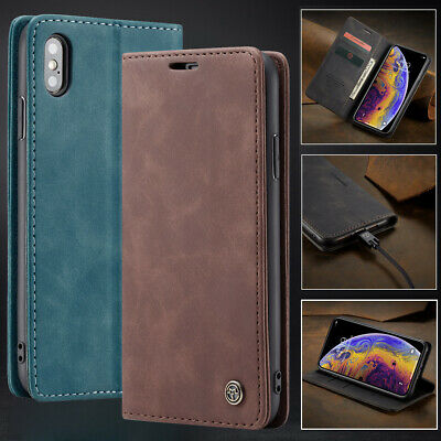 iPhone 6S 6 7 Plus Case for Apple -Genuine Leather Wallet Flip Cover Stand