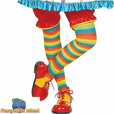 CLOWN SHOES CIRCUS COLOURFUL Mens Ladies One Size Adults fancy dress costume