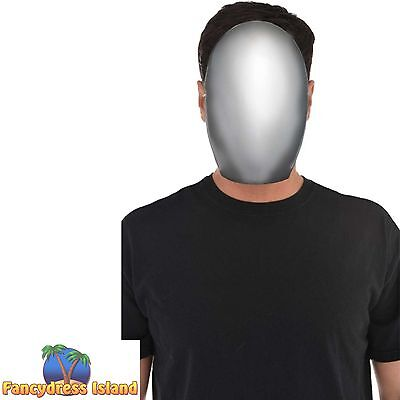 FACELESS FUTURISTIC ROBOT FACE MASK HALLOWEEN Fancy dress costume accessory