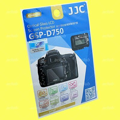 JJC 0.3mm Optical 9H Tempered Glass LCD Screen Protector Set For Nikon D750