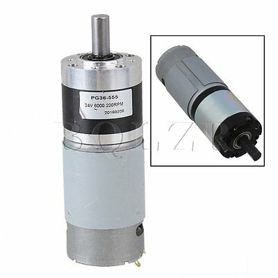 36mm DC24V 220RPM High Torque Full Metal Planetary Gear Motors Silver