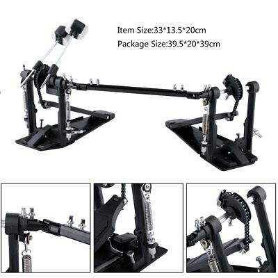 Drum Double Bass Pedal Foot Kick Percussion Drum Set Percussion Dual Pedal HT