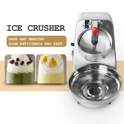 Electric Ice Crusher Shaver Machine Snow Cone Maker Stainless Steel Blade 240V