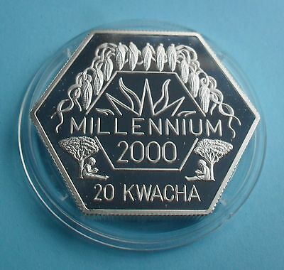 1999 Malawi 20 Kwacha Millennium Silver Proof Coin (Flaming Star)