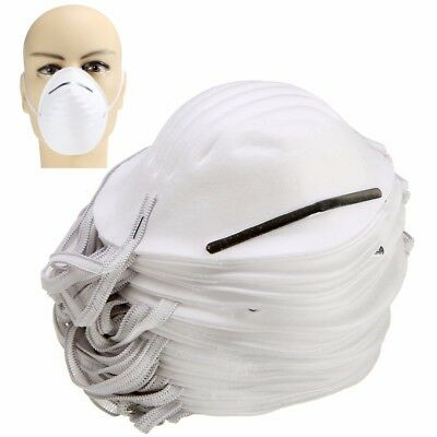 50 x DUST masks disposable moulded shell type elasticated face masks