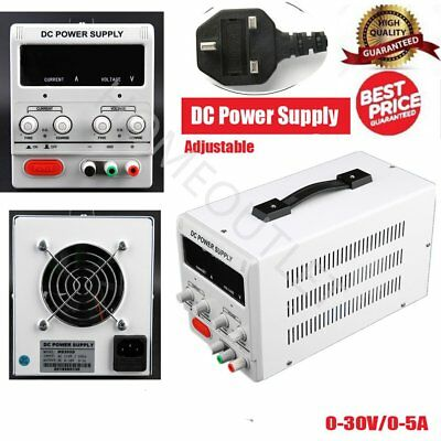 5A 0-30V Adjustable DC Power Supply Precision Variable Digital Lab w/clip CE HT
