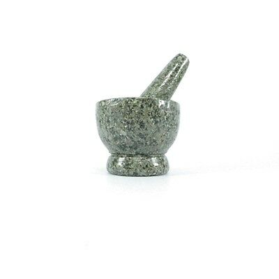 Mortar And Pestle Small Natural Granite Kitchen Stone Grinder Size 4.8 Cm. New