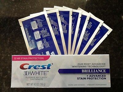28 Super Teeth Whitening Strips + Crest3D Teeth Whitening Toothpaste