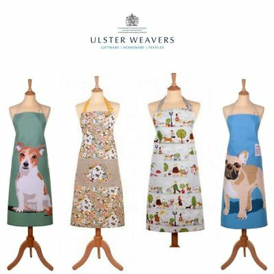 Ulsters Weavers 100% Cotton Adult Apron with Adjustable Tie in Various Designs