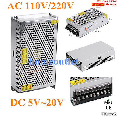 DC 5V 12V 24V Universal Regulated Switching Power Supply LED 3D Printer CCTV New