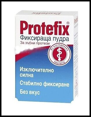 Protefix Adhesive Powder 20gr Extra Strong Fixation for Dentures -Natural-based