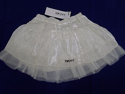 New with tags DKNY creamy baby girl skirt size 3 months