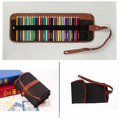 Bag Sketch Color Pen Shade Roll Up Pencil Case Pencil Bag Pluggable Pen Bag