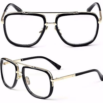 Popular Large Square Frame Clear Lens Metal Frame Fashion Style Glasses