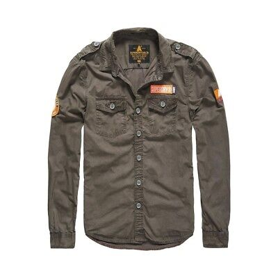 Chemise Superdry Ultra Light Army Corps Charcoal