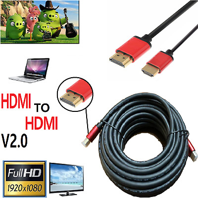 PREMIUM HDMI Cable v2.0 HD 4k High Speed 3D Lead 2160p 1m/2m/4m/5m/10m/15m/20m