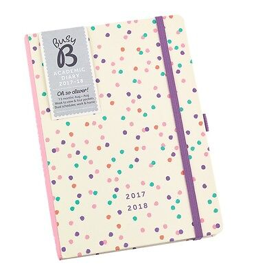 Busy B Spots Academic Year Diary August 2017-18 BRAND NEW & SEALED 13 Months