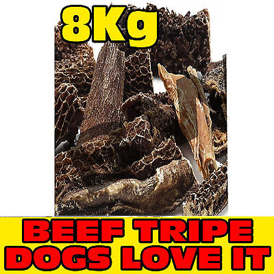 8Kg Kilo Dried Natural Tasty Beef Tripe Sticks Treat Bites Snack Chew Dog Pet