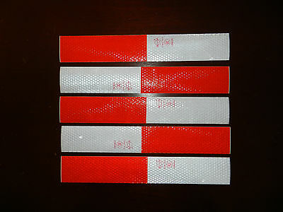 Reflective Tape Decal Sticker LOT of 2 Safety Caution RED WHITE Vehicle Trailer