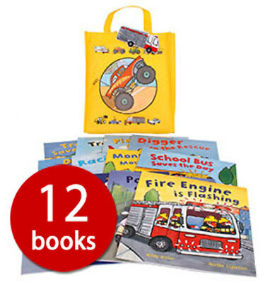 Busy Wheels in a Bag Collection - 12 Books