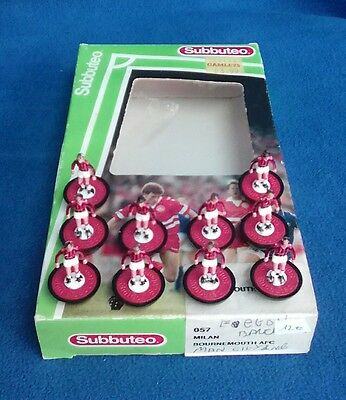 Squadra Team Subbuteo 63000 Table Soccer Milan Bournemouth Ref 057