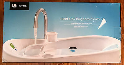 4moms, Baby Bath Tub, White, Built-in digital thermometer, 4 moms, Gently Used