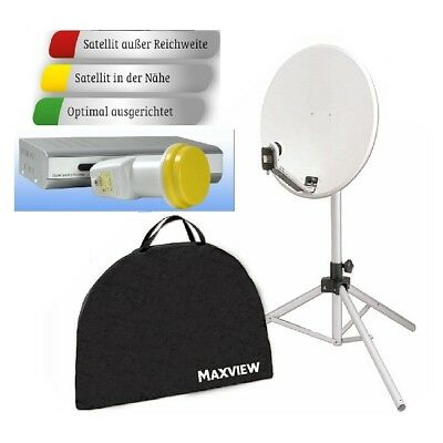 "Camping Maxview Portable Sat Kit Satanlage 65 cm "" Light Plus "" incl. Receiver"