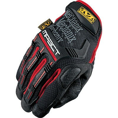 "Mechanix Working Gloves""MPT-52 M-Pact"",Black&Red"