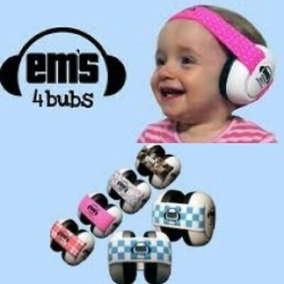 Customer Returns Em's 4 Bubs Hearing Protection Baby Earmuffs Size 0-18 Months