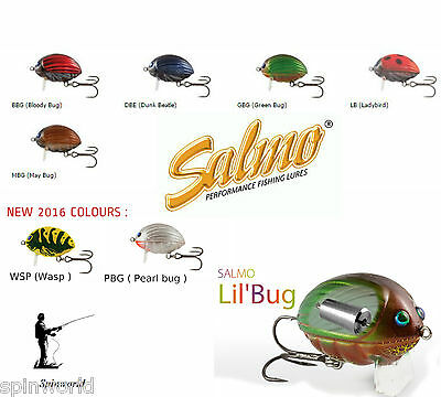 Salmo LIL BUG surface wobler  variety sizes & colours -excellent for chub  !!!