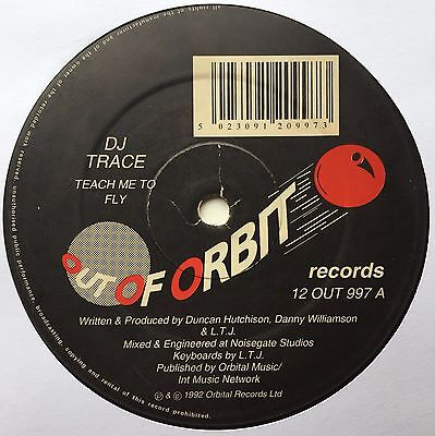 "Trace & Bukem ‎– Teach Me To Fly / Inception (After Dark Remix) 12"" OUT OF ORBIT"