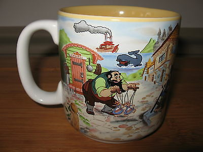 Walt Disney's Animated Classics MUG PINOCCHIO movie GEPPETO 1940 12oz
